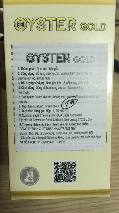 Oyster Gold tem phụ