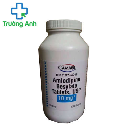 Amlodipine besylate 5mg, 10mg của Camber Pharmaceutical